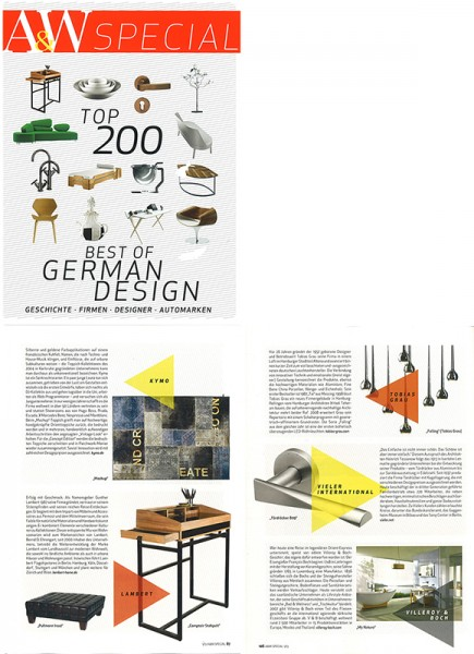 "Architektur&Wohnen Special: ""Top 200 best of german design"""